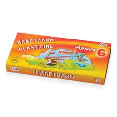 Пластилин классический ГАММА «Мультики», 6 цветов, 120 г, со стеком, картонная упаковка