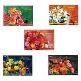 Альбом для рисования, 32 л., HATBER, спираль, блестки, 100 г/<wbr/>м<sup>2</sup>, «Роскошные цветы» (5 видов)