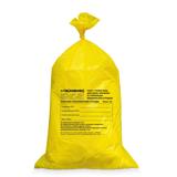 Мешки для мусора медицинские ЛАЙМА, комплект 50 шт., класс Б (жёлтые), 100 л, ПРОЧНЫЕ, 60×100 см, 22 мкм