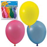 """Шары воздушные 10"""" (25 см), комплект 10 шт., 10 пастельных цветов, в упаковке с европодвесом"""