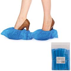 Бахилы ОСОБО ПРОЧНЫЕ, комплект 100 штук (50 пар), чехлы для обуви, размер 39×15 см, ПВД, 70 мкм, евроупаковка