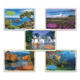 Альбом для рисования, 40 л., HATBER VK, спираль, обложка мелованный картон, 100 г/<wbr/>м<sup>2</sup>, «Природа» (5 видов), 40А4Cсп