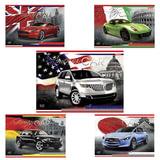 Альбом для рисования, 40 л., HATBER, выборочный лак, 100 г/<wbr/>м<sup>2</sup>, «Country Cars» («Авто»)