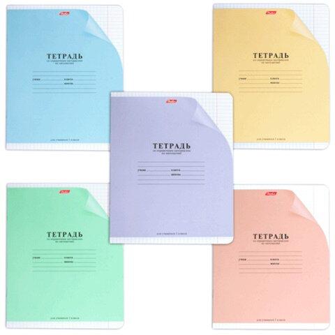 Тетрадь 12 л., HATBER, клетка, обложка мелованный картон, справочная информация по математике, «С уголком»