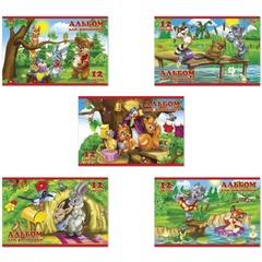 Альбом для рисования, А5, 12 л., HATBER, обложка мелованный картон, 100 г/<wbr/>м<sup>2</sup>, «Для малышей», 12А5B