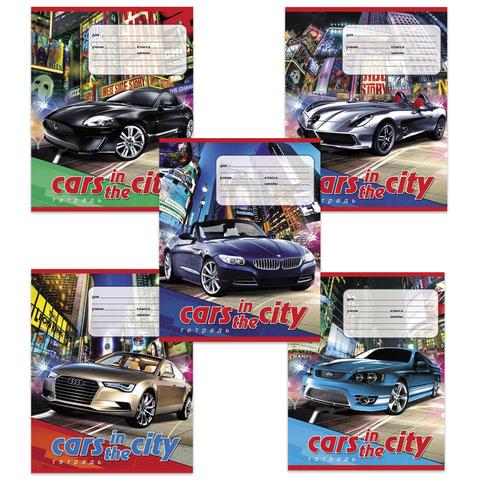 Тетрадь 12 л., HATBER VK, клетка, обложка мелованный картон, «Машина в городе»