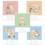 Тетрадь 12 л., HATBER VK, клетка, обложка мелованный картон, «Мишка косолапый», 12Т5С1