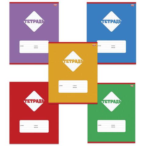 Тетрадь 12 л., HATBER VK, клетка, обложка мелованный картон, «Цветная»