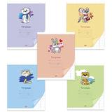 Тетрадь 12 л., HATBER VK, косая линия, обложка мелованный картон, «Смешные малыши», 12Т5С6
