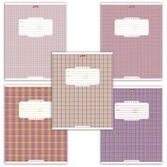 Тетрадь 12 л., HATBER, клетка, обложка мелованный картон, «Шотландка — 1», 12Т5B1