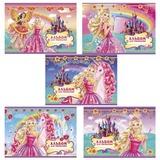 Альбом для рисования, 20 л., HATBER, обложка с блестками, 100 г/<wbr/>м<sup>2</sup>, «Барби», 20А4блB