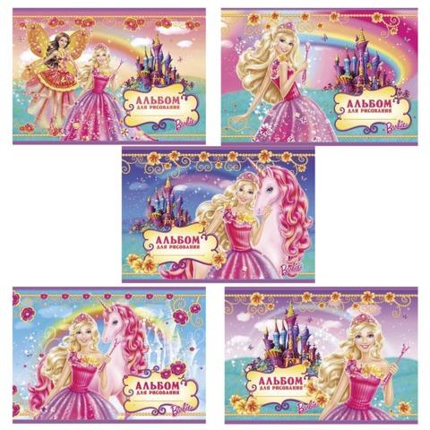 """Альбом для рисования, 20 л., HATBER, обложка с блестками, 100 г/м2, """"Барби"""", 20А4блB"""