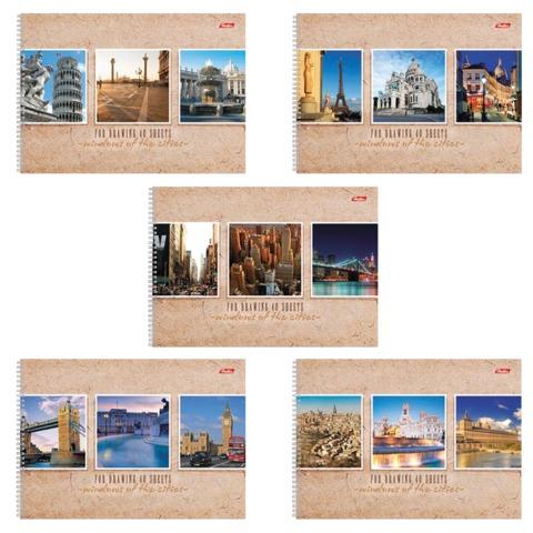 Альбом для рисования, 40 л., HATBER, спираль, обложка мелованный картон, 100 г/<wbr/>м<sup>2</sup>, «Windows» («Окна»)