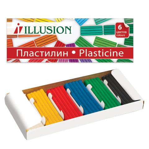 """Пластилин классический ГАММА """"Illusion"""", 6 цветов, 84 г, картонная упаковка"""