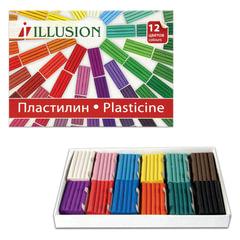 Пластилин классический ГАММА «Illusion», 12 цветов, 168 г, картонная упаковка
