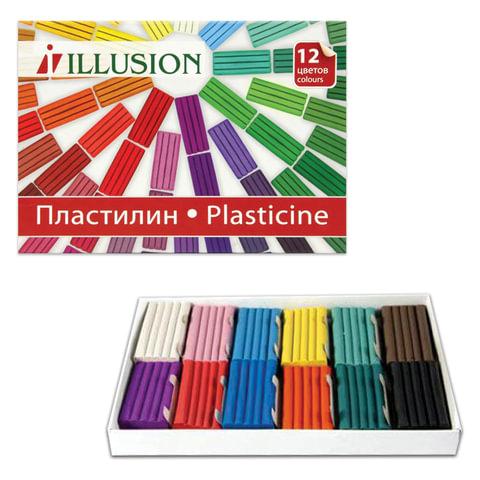 Пластилин ГАММА «Illusion», 12 цветов, 168 г