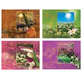 Альбом для акварели А4, 40 л., КТС-ПРО, гребень, жесткая подложка, 180 г/<wbr/>м<sup>2</sup>, «Времена года»