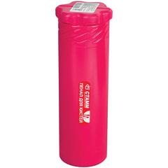 Пенал-тубус для кистей СТАММ пластиковый, 210×65 мм, 3 цвета ассорти (голубой, бордовый, розовый)