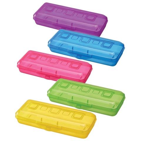 Пенал СТАММ пластиковый, тонированный, цвет ассорти