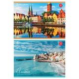 Альбом для рисования, 32 л., BRAUBERG, обложка мелованный картон, «Города мира», 2 вида