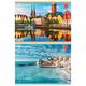 Альбом для рисования, 32 л., BRAUBERG (БРАУБЕРГ), обложка мелованный картон, «Города мира», 2 вида