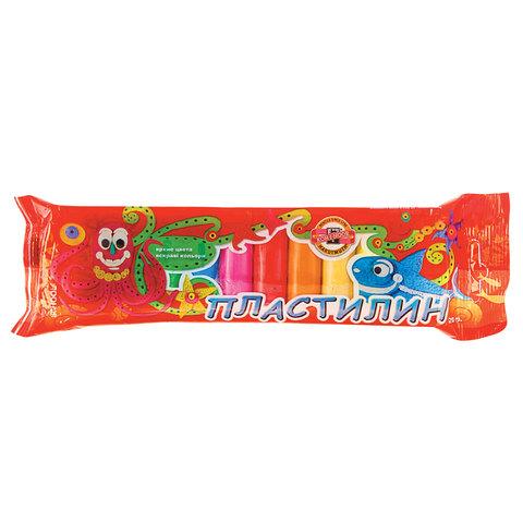 Пластилин классический KOH-I-NOOR, 10 цветов, 100 г, пластиковая упаковка, европодвес