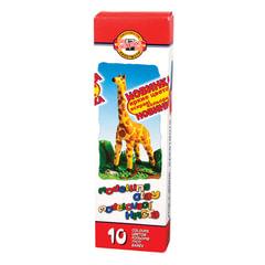 Пластилин классический KOH-I-NOOR «Жираф», 10 цветов, 200 г, картонная упаковка