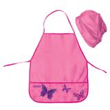 Фартук для труда и занятий творчеством ПИФАГОР с нарукавниками, для учениц начальной школы, бабочки