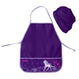 Фартук для труда и занятий творчеством ПИФАГОР с нарукавниками, для учениц начальной школы, лошадка