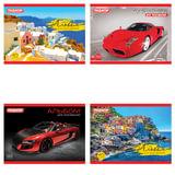 Альбом для рисования, А5, 40 л., ПИФАГОР, обложка офсет, 100 г/<wbr/>м<sup>2</sup>, «Автомобиль» / «Путешествие», 4 вида