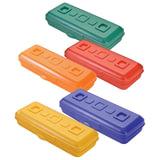 Пенал СТАММ «Премиум», пластиковый, непрозрачный, цвет ассорти
