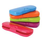 Пенал-футляр СТАММ «Intensive», пластиковый, непрозрачный, цвет ассорти