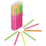 Счетные палочки СТАММ (30 штук) многоцветные, в пластиковом пенале