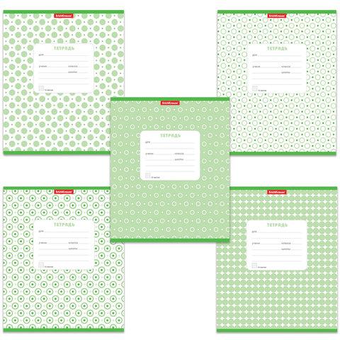 Тетрадь 12 л., ERICH KRAUSE, клетка, обложка мелованный картон, «Горошек зеленый»