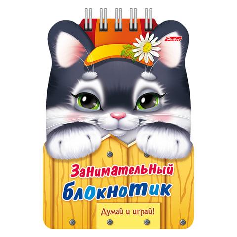 Книжка-пособие А6, 16 л., HATBER, Занимательный блокнотик, гребень, «Котёнок»