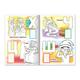 Книжка-раскраска А4, 8 л., HATBER с наклейками, Азбука, «Волшебная азбука»