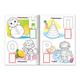 Книжка-раскраска А4, 8 л., HATBER с наклейками, Азбука, «Игрушки»