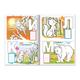 Книжка-раскраска А4, 8 л., HATBER с наклейками, Азбука, «Лесная азбука»