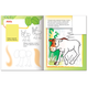 Книжка-раскраска А5, 8 л., HATBER с наклейками, Дорисуй и раскрась, «Лесные звери»