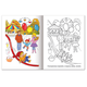 Книжка-раскраска А5, 8 л., HATBER, Первые уроки, «Дни недели»