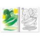 Книжка-раскраска А5, 8 л., HATBER, Первые уроки, «Овощи»