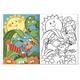Книжка-раскраска А5, 8 л., HATBER, Первые уроки, «Природные явления»