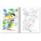 Книжка-раскраска А5, 8 л., HATBER, Первые уроки, «Птицы»