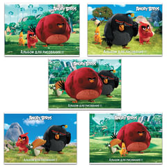Альбом для рисования «ANGRY BIRDS» — (MOVIE), 32 л., обложка мелованный картон, 100 г/<wbr/>м<sup>2</sup>, HATBER, 32А4В