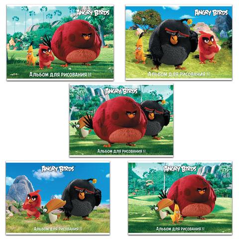 """Альбом для рисования """"ANGRY BIRDS"""" - (MOVIE), 32 л., обложка мелованный картон, 100 г/м2, HATBER, 32А4В"""