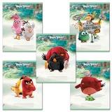 Тетрадь «ANGRY BIRDS» — (MOVIE), 12 л., клетка, обложка мелованный картон, HATBER