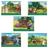 Альбом для рисования, 12 л., HATBER, обложка мелованный картон, 100 г/<wbr/>м<sup>2</sup>, 4D-игра, «Волки и овцы»