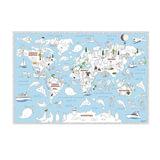 Карта-раскраска «Обитатели Земли», 101×69 см