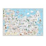 Карта-раскраска «Наша Родина — Россия», 101×69 см