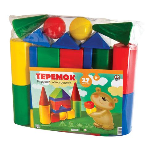 Конструктор пластиковый «Теремок», 27 элементов, в ПВХ сумке, цветной, «Десятое королевство»